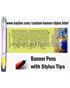 Custom Banner Stylus, Scroll Stylus Pens/Flag Stylus Pens,HSBANNERSTYLUS-3M,Free Shipping & No Setup  Charges,4 weeks to your door!