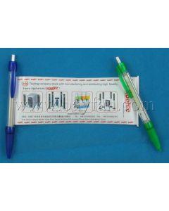 Banner Pens,Custom Full Color Printed Banner Pens,Promottional pull out Banner Pen,HSBANNER-3