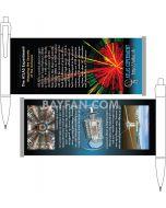 Banner Pens Artwork Design Service, Customized full color offset  printed  pull out paper banner design service