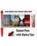 Banner Stylus Pen, Custom Scroll Stylus Pens/Flag Stylus Pens,HSBANNERSTYLUS-3M,Free Shipping & No Setup  Charges,4 weeks to your door!